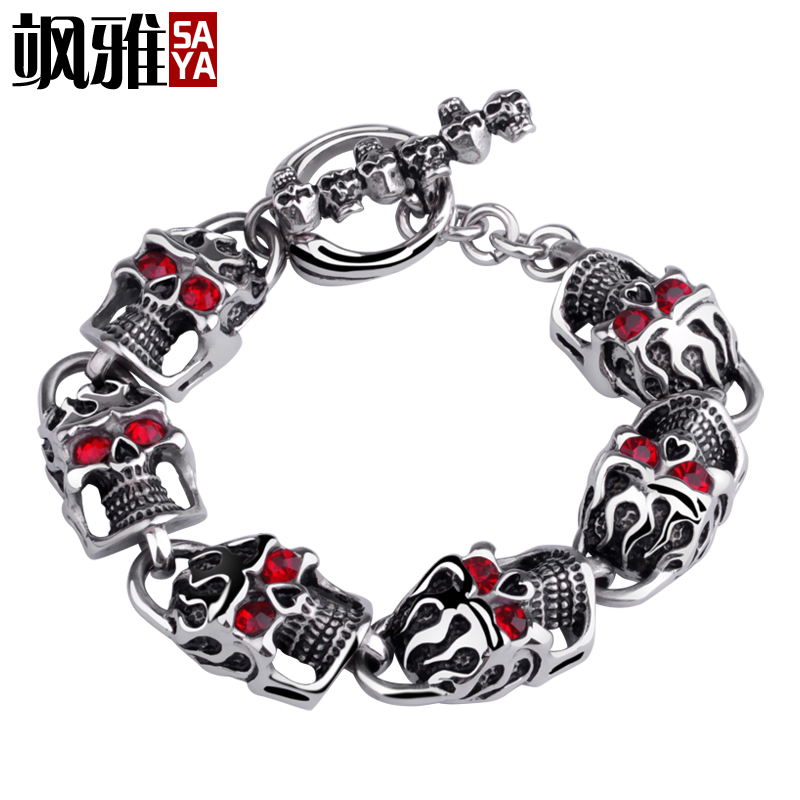 Accor sa men punk skull bracelet japan and south korea titanium steel jewelry personalized jewelry tide male wild fashion with jewelry