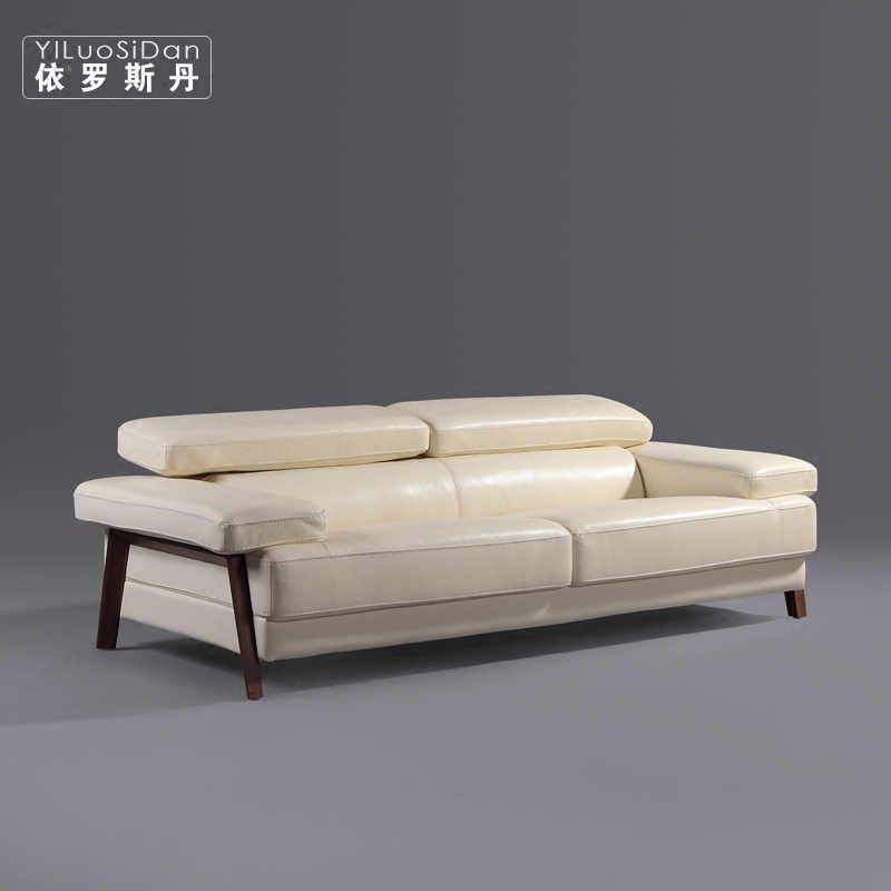 According to luo sidan nordic north american black walnut wood layer cowhide leather sofa minimalist living room sofa combination