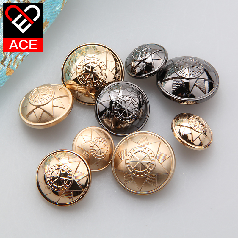 Ace button exquisite metal buttons buttoned fashion clothes casual female coat 18-25mm