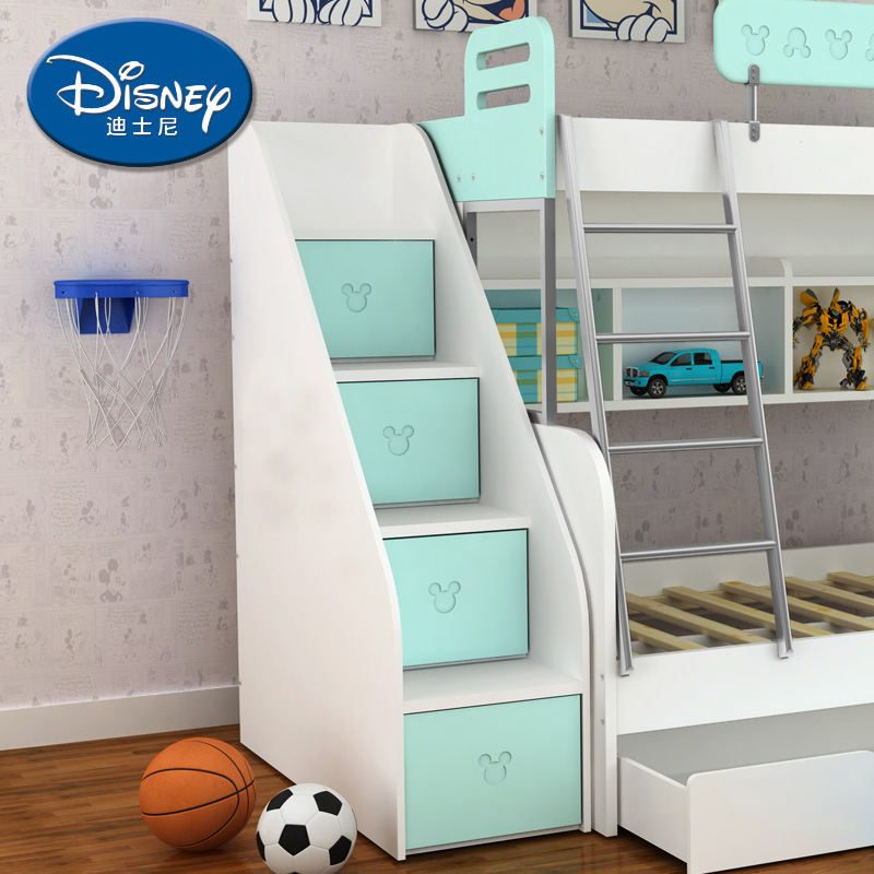 Acg children's cartoon double storage cabinets lockers/combination ladder cabinet bed bunk bed children's furniture