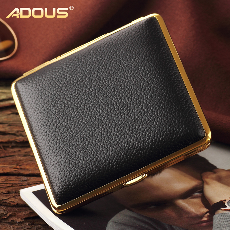 Adous love bucket shi cigarette 20 installed creative personality cigarette cigarette box automatically ejected 300b leather magnet