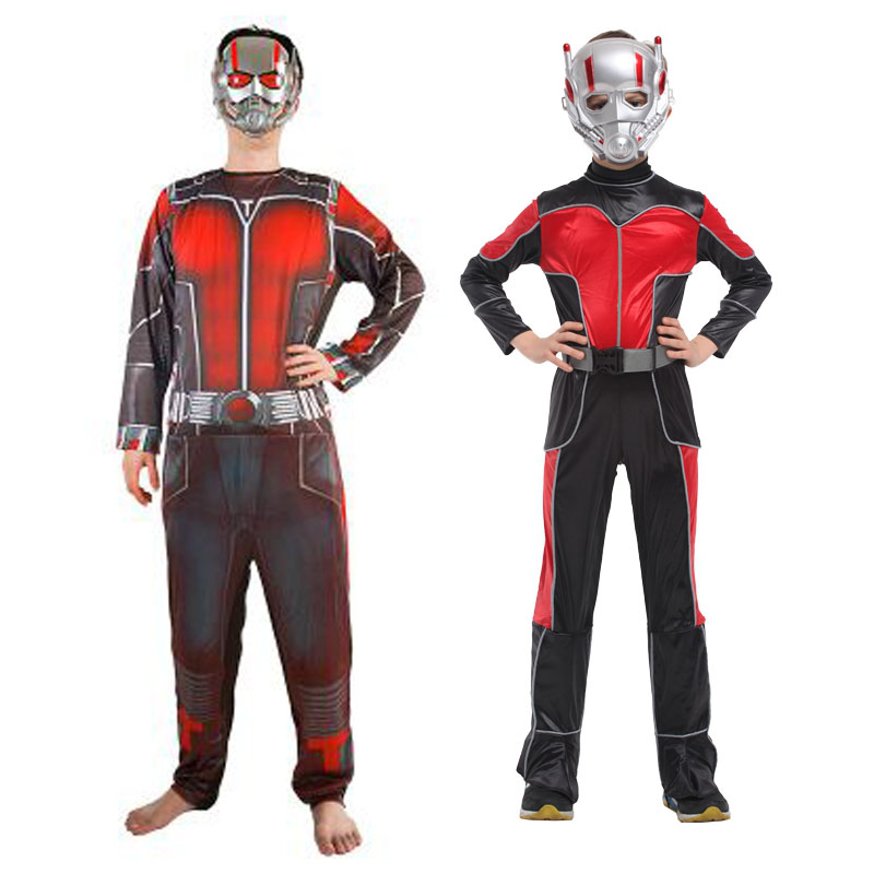 Adult halloween children's performing clothing ant man hero hero clothes cos cosplay costumes adult children