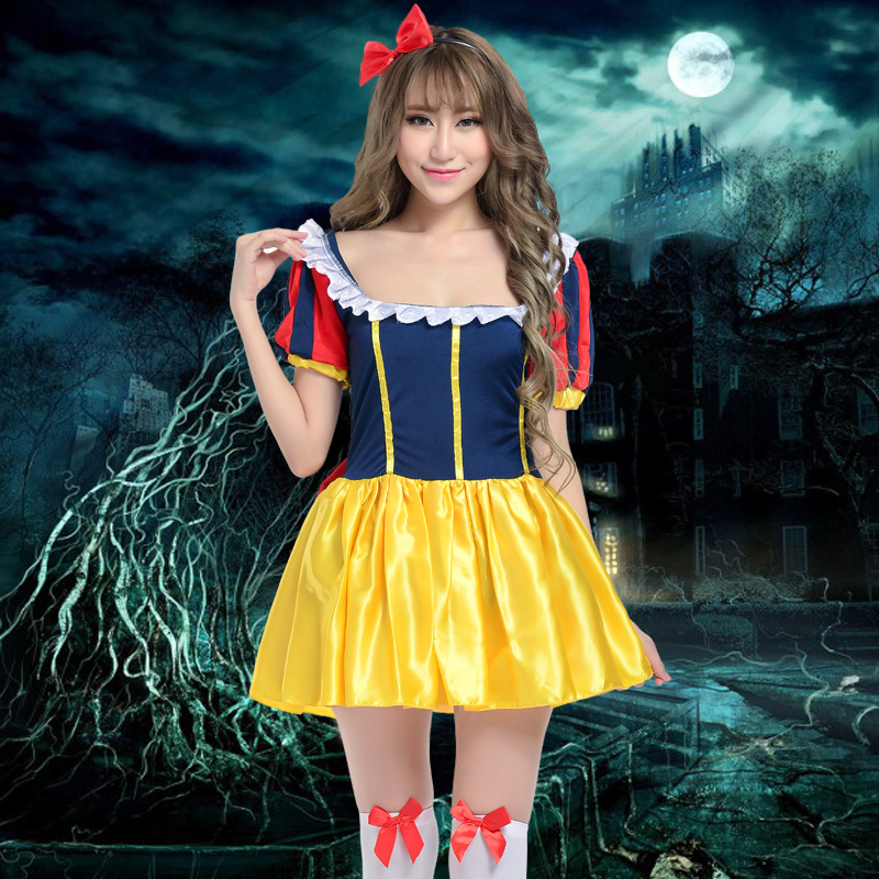 Adult halloween costume cosplay masquerade queen fitted dress disney snow white queen costume
