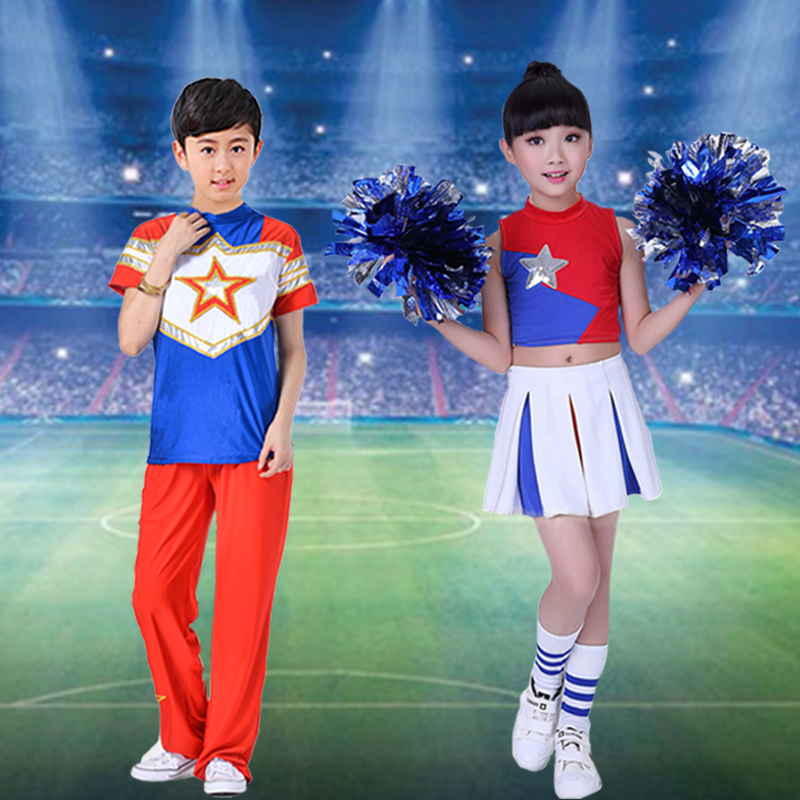 Adult male and female cheerleaders cheerleading apparel cheerleading football baby cheerleading clothes performance clothing stage costumes