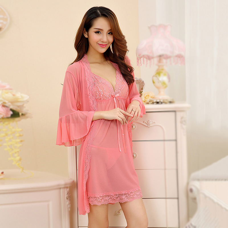 Adult sexy lingerie suit contains adult sm uniforms reality show large size women sexy transparent lace nightgown