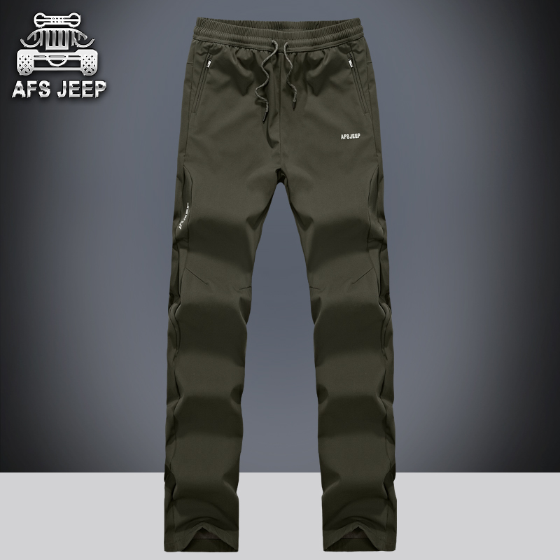 Afs jeep wicking windproof outdoor men's casual pants trousers autumn pants trousers sports pants climbing pants