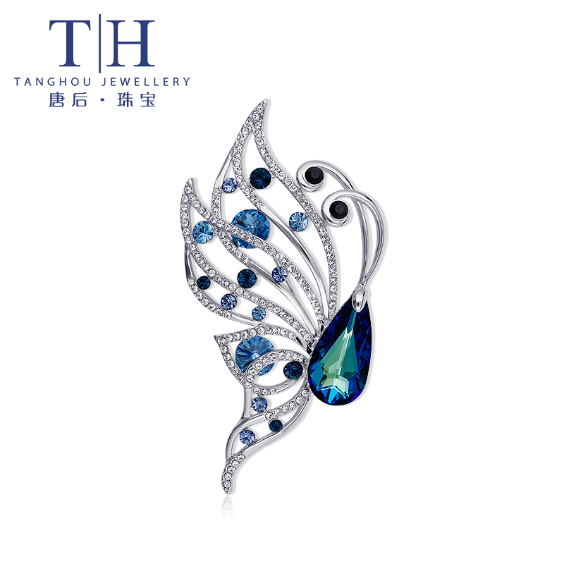 After th/don elegant fashion female butterfly brooch swarovski elements crystal brooch brooch personality
