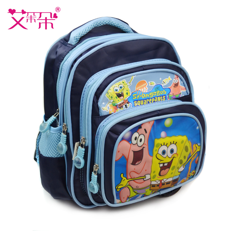 Ai blossoming princess spongebob schoolbag kindergarten children schoolbag schoolbag boys and girls 3-5 years old preschool