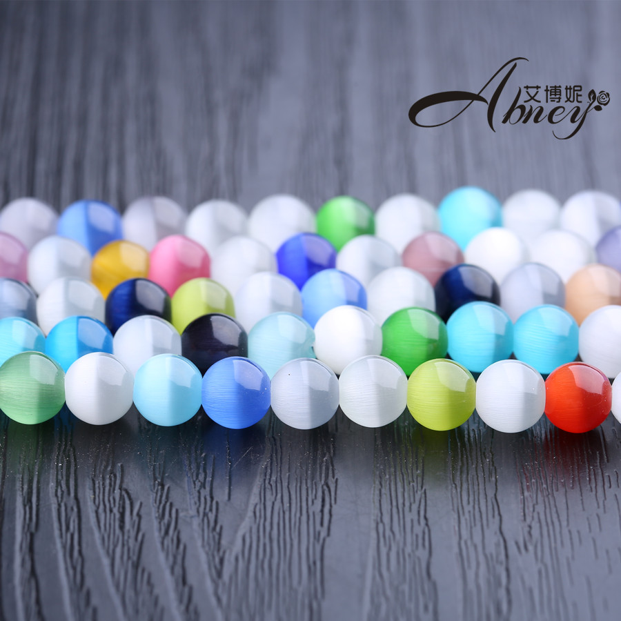 Ai boni shipping color opal crystal ball loose beads diy semifinished female models accessories