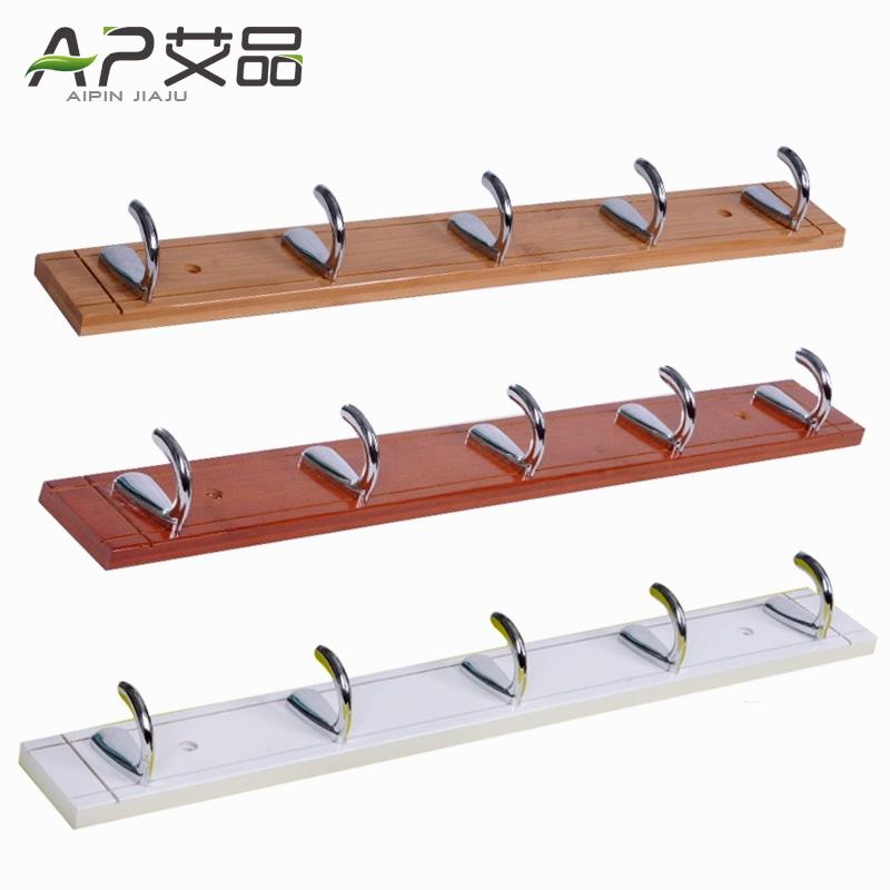 Ai Product Bamboo Wood Coat Rack Hangers Creative Bedroom Wall Behind The Door  Coat Hook Wall