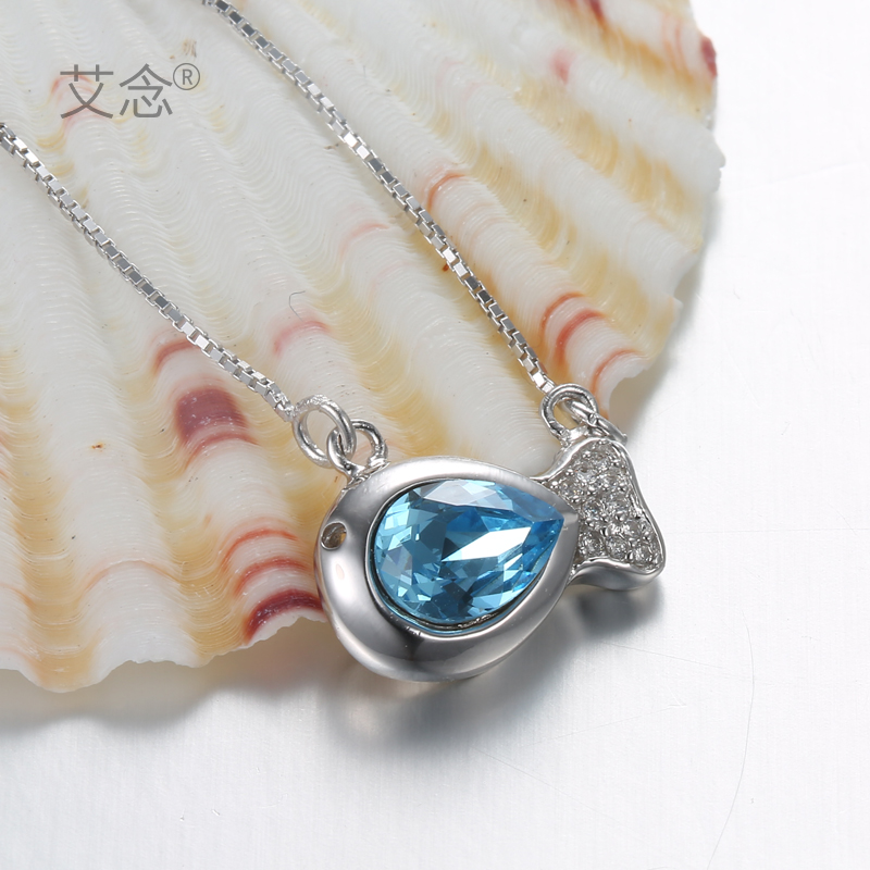 Ai read shop discounted-two shipping korean version of the s925 silver pendant necklace female chain plus series of jewelry