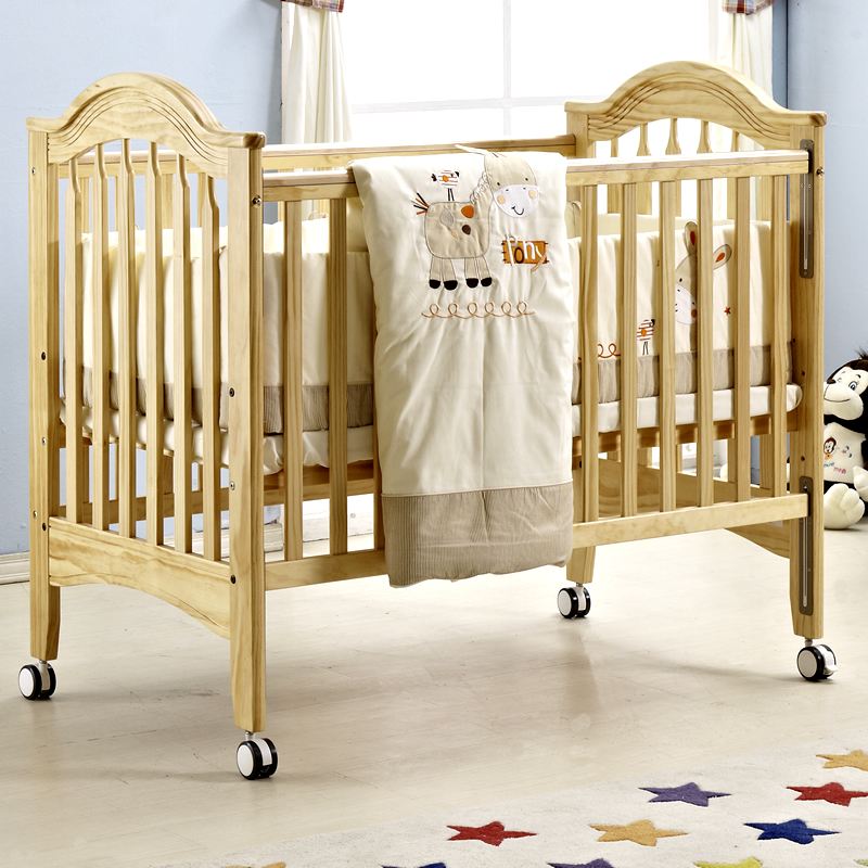 Aisi bo child crib white imported pine wood crib playpen environmental bb bed children's beds