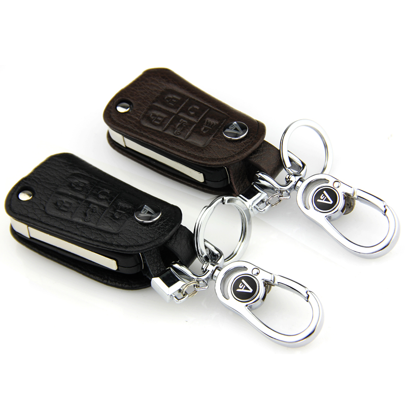 Aite si new buick lacrosse/gl8 3.0l ke mailuo 5 button car leather key cases key sets of folding