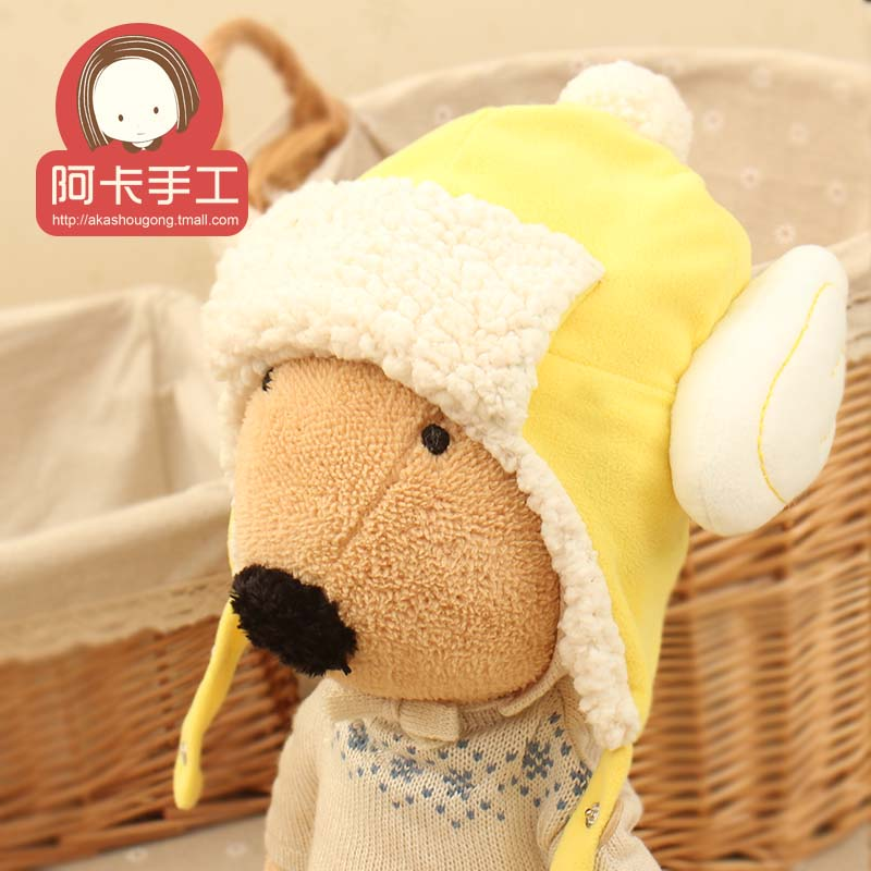 Aka diy handmade baby hat ear cap winter theapprentice baby diy handmade cloth material package