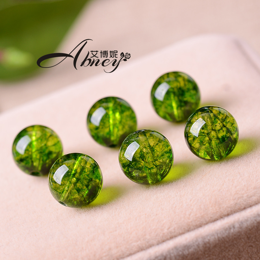 Albanese borderies olive green diy handmade jewelry accessories crystal beads loose beads popcorn spar