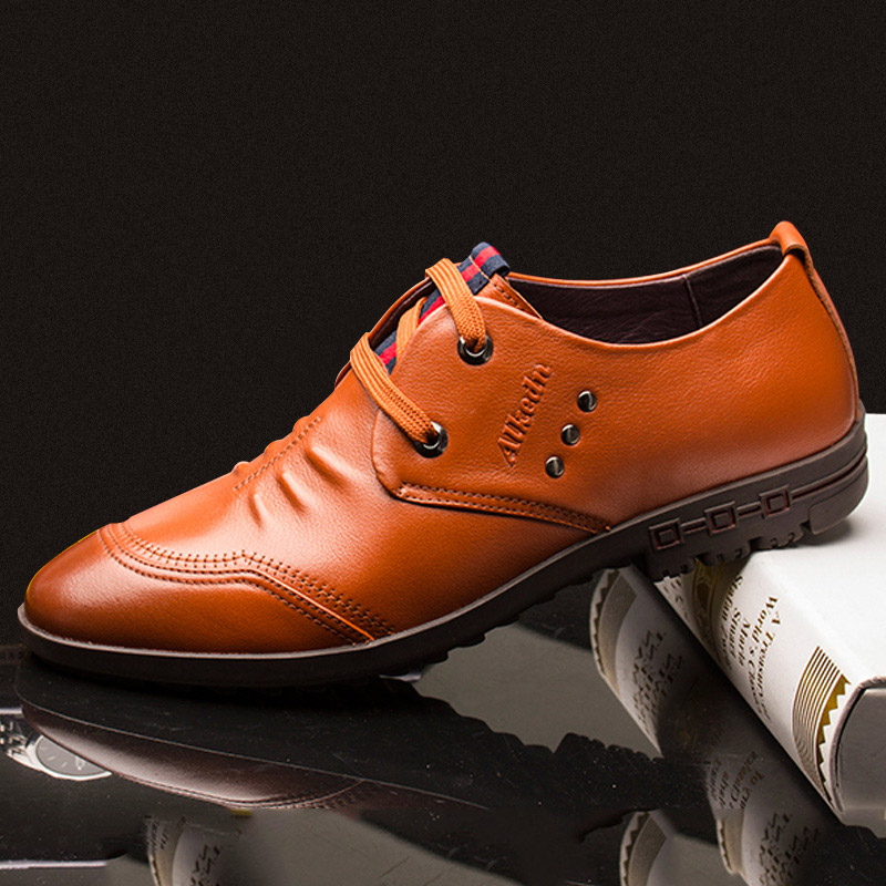 Alex gordon men's 2015 summer men's business casual leather lace shoes men first layer of soft leather shoes