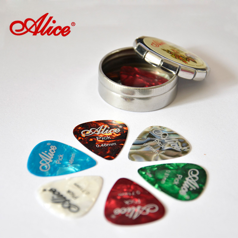 Alice electric guitar plectrum shrapnel paddles folk guitar plectrum pick boxed more specifications with paddles box