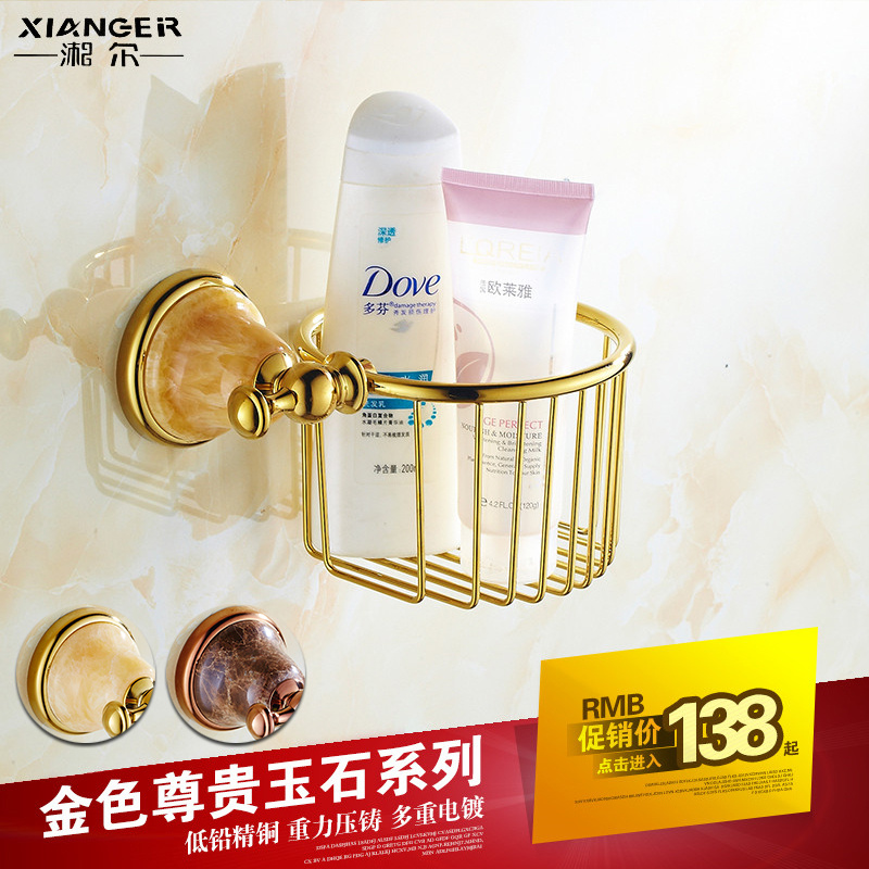 All copper and gold rose gold natural bowlder dustbin bathroom toilet paper holder towel rack basket cosmetics