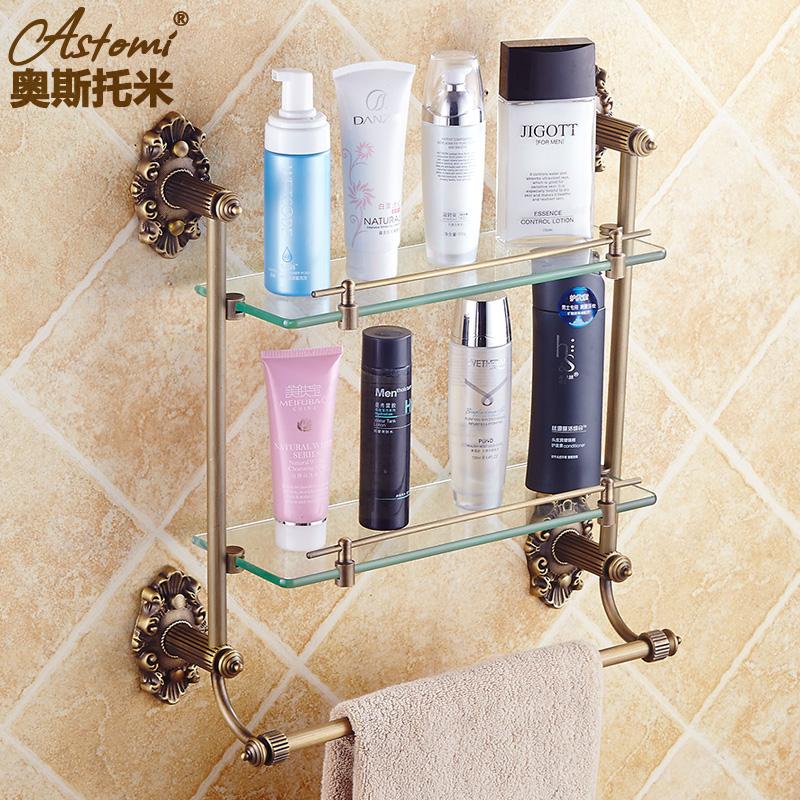 Get Quotations All Copper Antique European Bathroom Vanity Gl Shelf Accessories Towel Rack