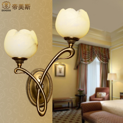 All copper marble wall lamp wall tv backdrop wall lamp wall lamp bedside lamp bedroom den living room lights aisle stairs