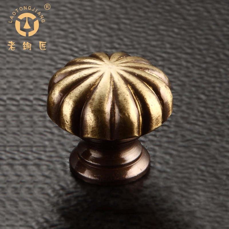 All copper old coppersmith furniture wardrobe cabinet door handle pure bronze drawer handle chinese classical imitation of complex in europe and america