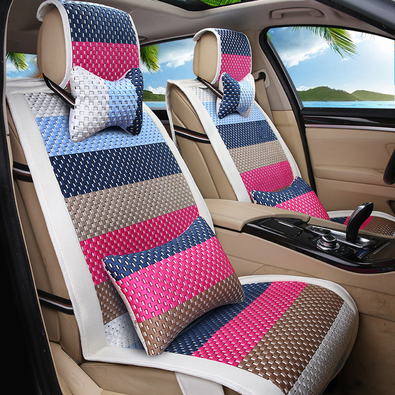 All inclusive car seat cover ice sixia season pentiumii X80B30 bora h6 four seasons general car mats summer female cushion