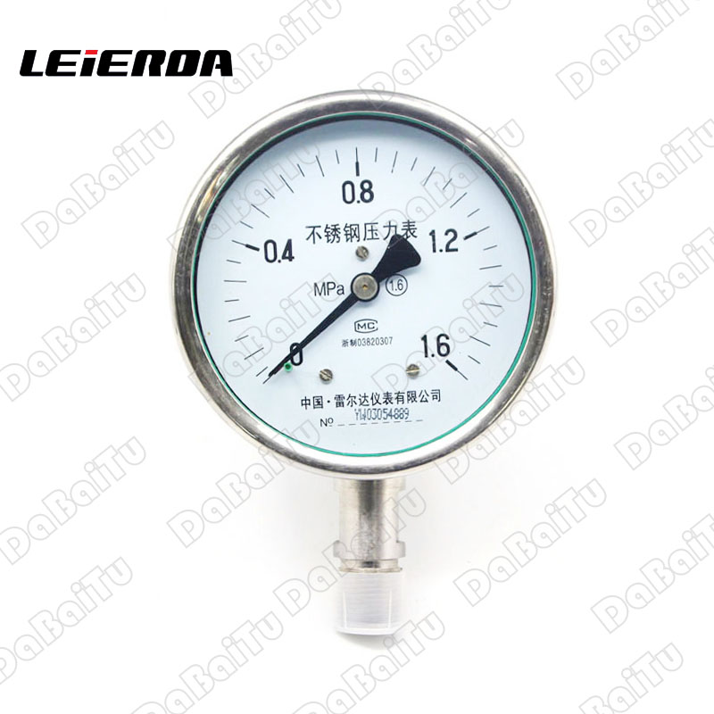 All stainless steel pressure gauge y-60bf 0-1, 0.16mpa full specification custom models