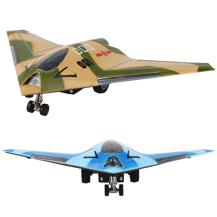 Alloy aircraft fighter aircraft model uav unmanned stealth bomber stealth fighter aircraft back to power sound and light children's toys