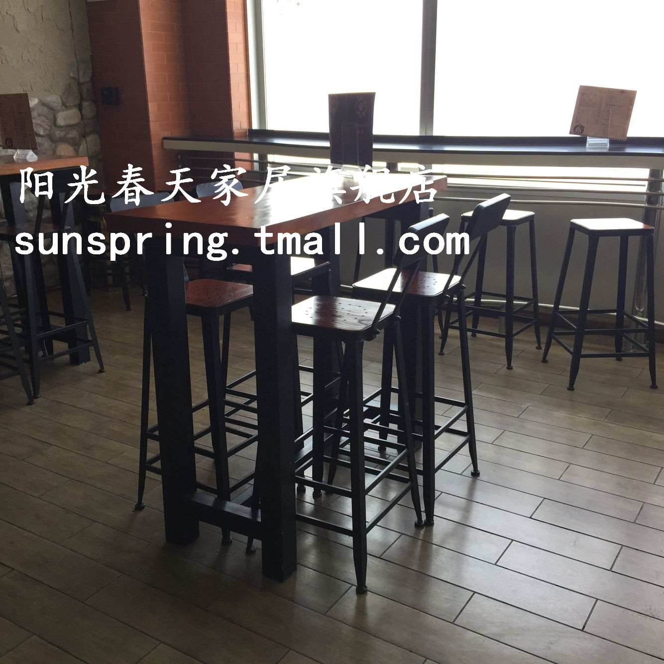 Get Quotations American Country Retro Wood Wrought Iron Table To Do The Old Starbucks Coffee Tables Tall Bar