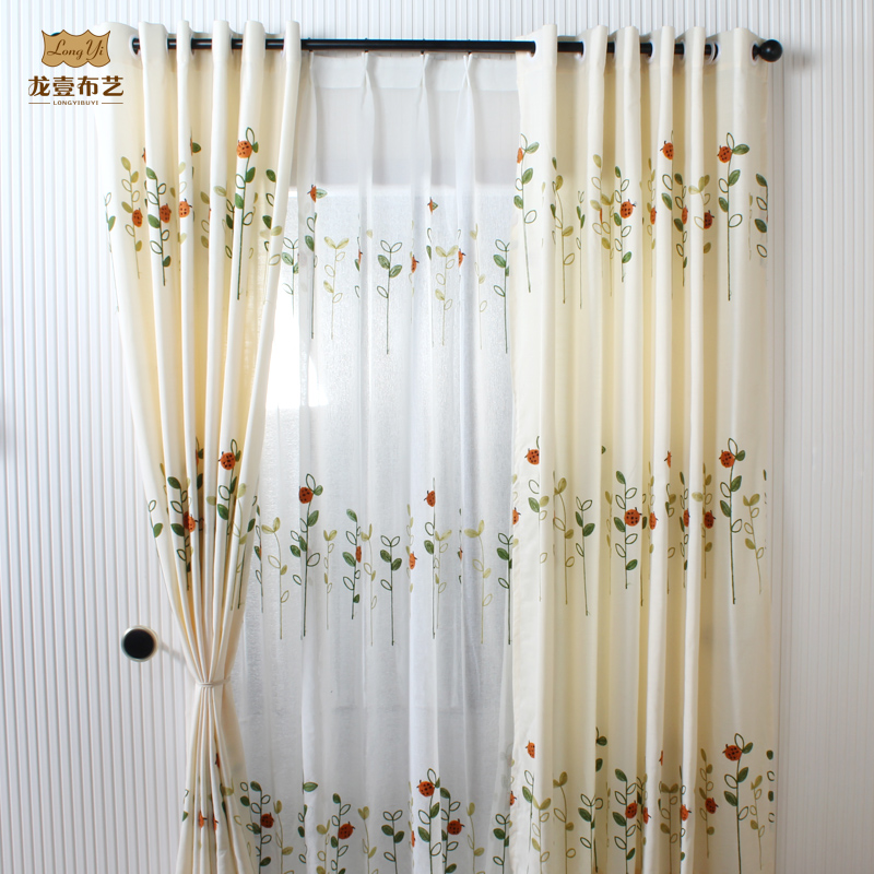 get quotations american country style retro embroidered cotton curtain fabric curtains bedroom living room screens fresh theatrical curtains - Retro Curtains