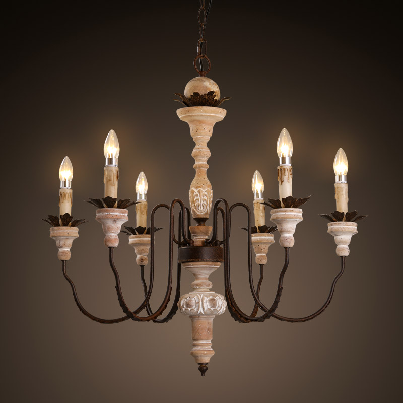 China wood candle chandelier china wood candle chandelier shopping get quotations american country wood chandelier cafe french baroque 6 head wax candle chandelier antique wood to do aloadofball Gallery