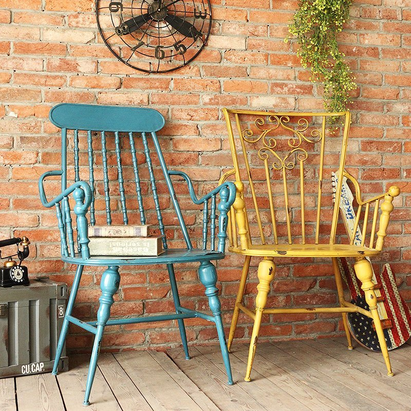 American iron chair retro personality and creative home furnishing lo ft-ir continental cafe bar bar tables and chairs