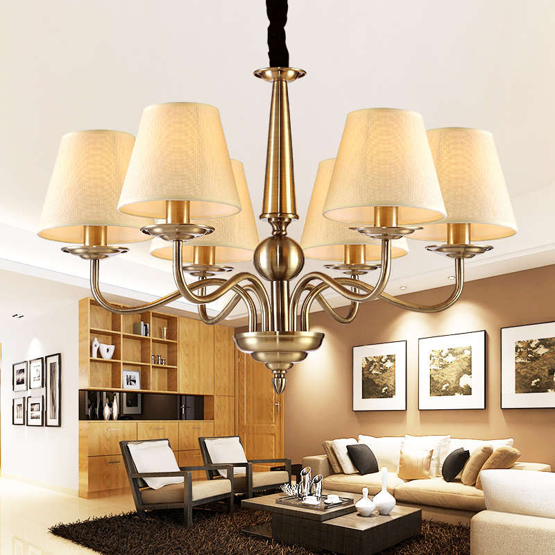American living room chandelier wrought iron lighting fixtures european pastoral countryside creative personality minimalist bedroom lamp chandelier lighting restaurant
