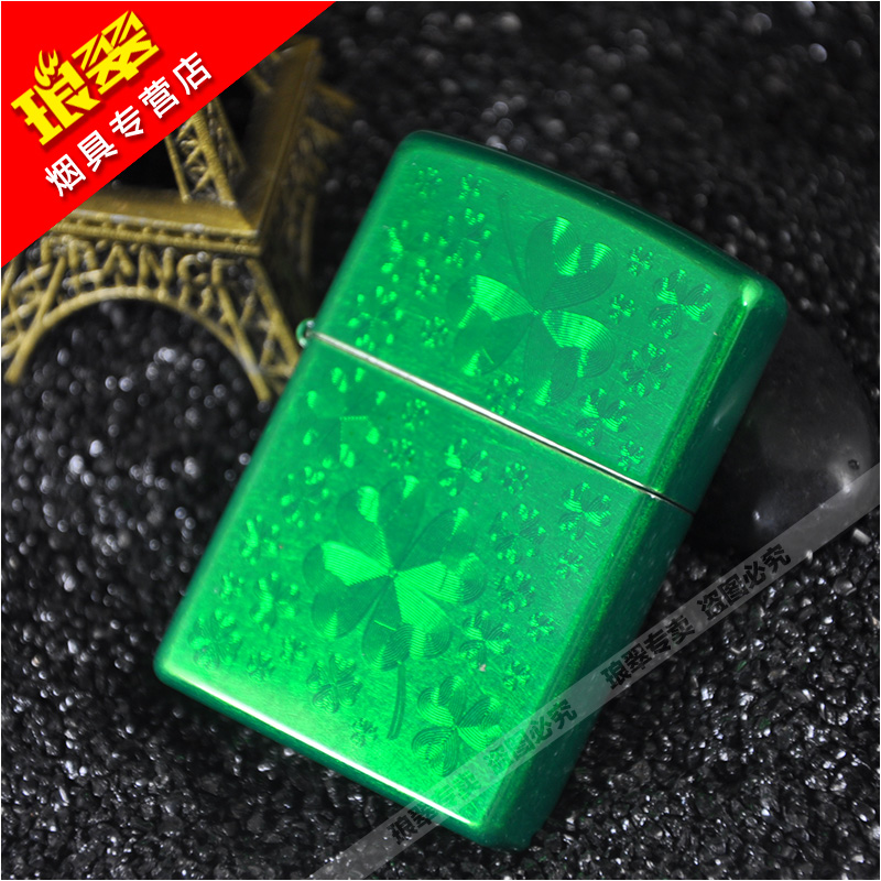 American original authentic zippo lighters zippo zipoo genuine sided green lucky clover 28354