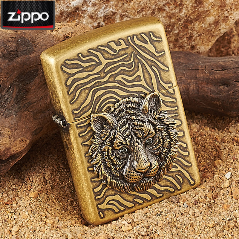 American original genuine zippo lighter limited edition genuine zppo windproof lighter bronze tiger tiger eye