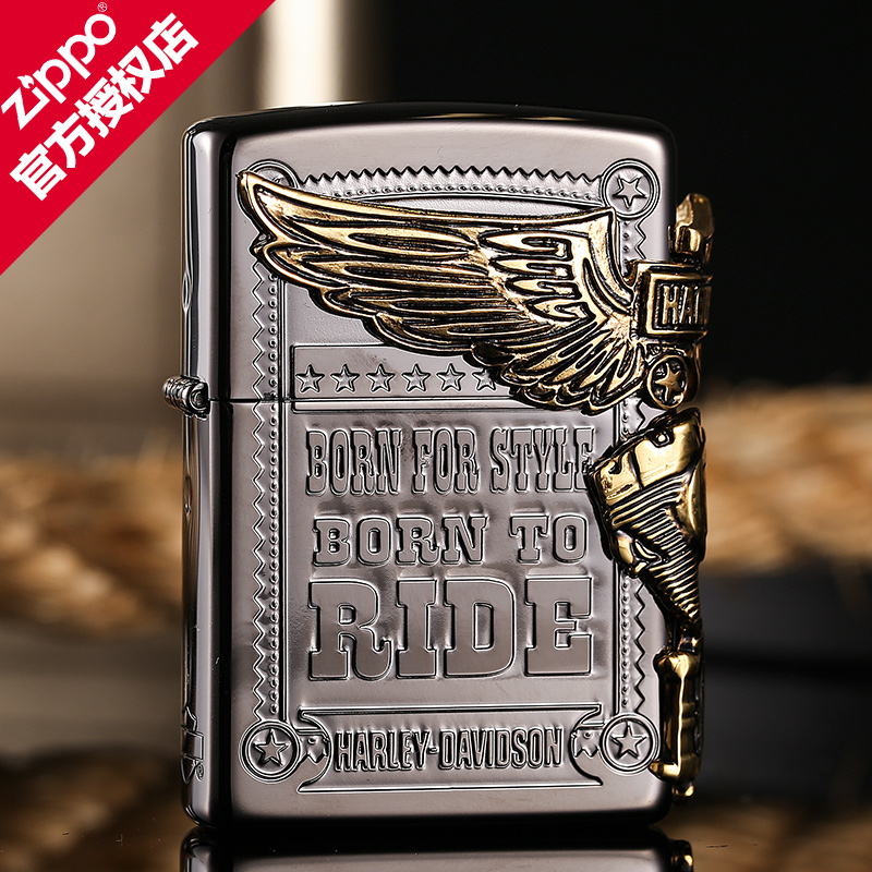Get quotations · american original zippo lighter windproof lighter side black ice gold stickers chapter zp jz