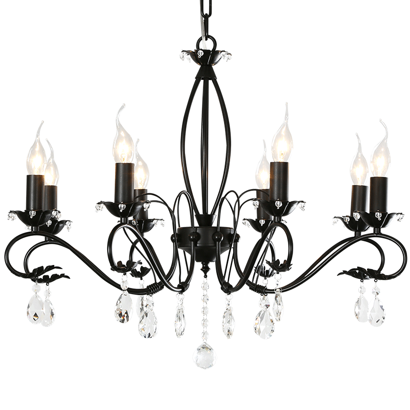 American retro minimalist living room chandelier crystal chandelier dining room den chandelier rustic wrought iron clothing store lights