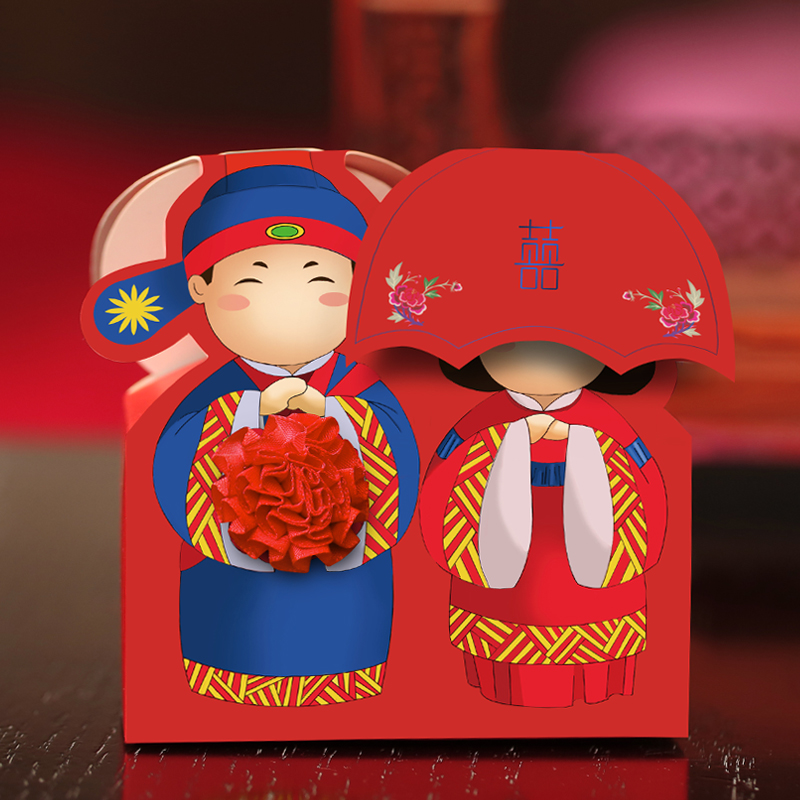 Amidst the collection of red chinese style wedding candy bags creative candy box candy box wedding supplies chinese wedding candy box