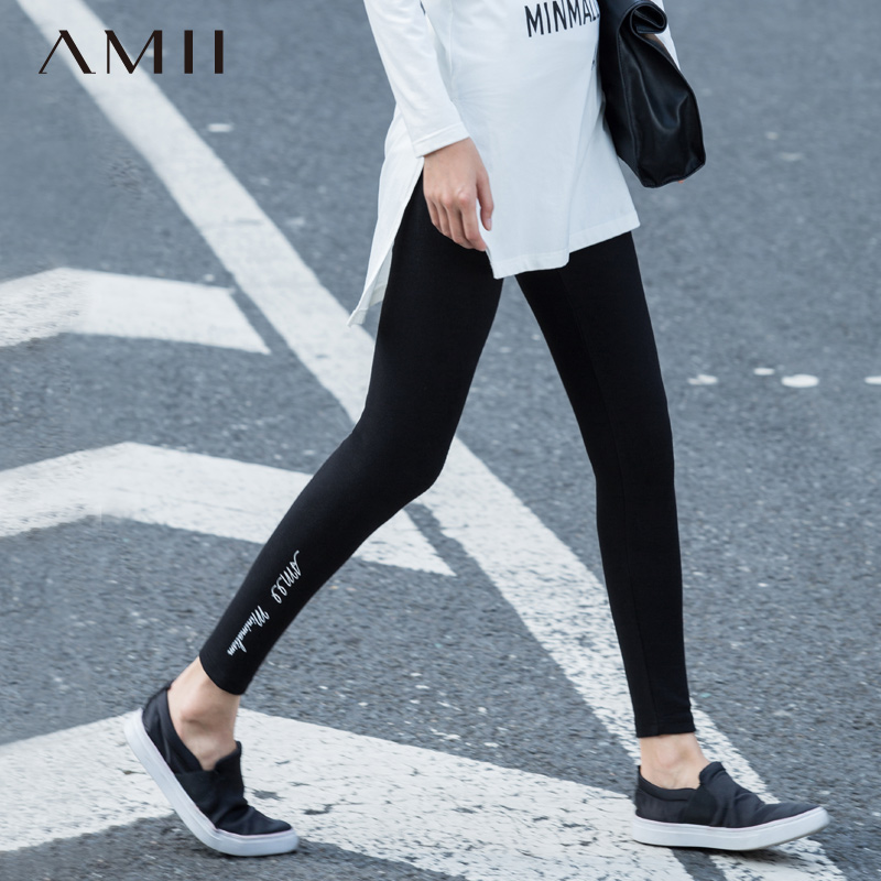 Amii and jane 2015 autumn and winter wild slim comfortable and warm stretch leggings big yards female 11541156