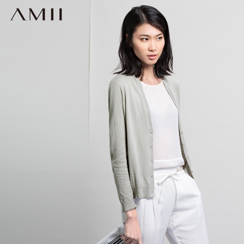 Amii and jane 2015 autumn piles collar cotton multicolor big yards sunscreen air conditioning shirt wool needle woven shirt female 11540511