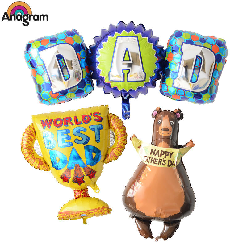 Anagram us imports of aluminum foil aluminum balloons party furnishing papa bear dad for father's day