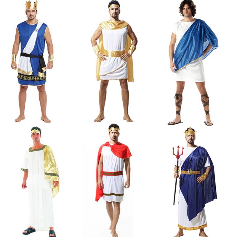 Get Quotations · Ancient greek mythology greek king costume halloween party  men male god zeus greek prince costume