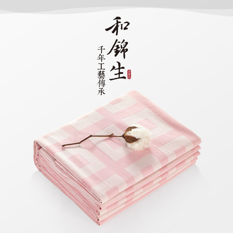 And jinsheng old coarse cotton linens single single double cotton plaid thickening [and jolly]