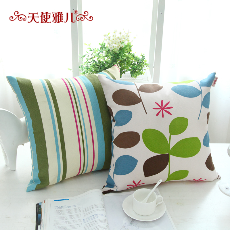 Angel ya children pure cotton fabric sofa cushion covers/leaves pillow cushion backrest pillow cover