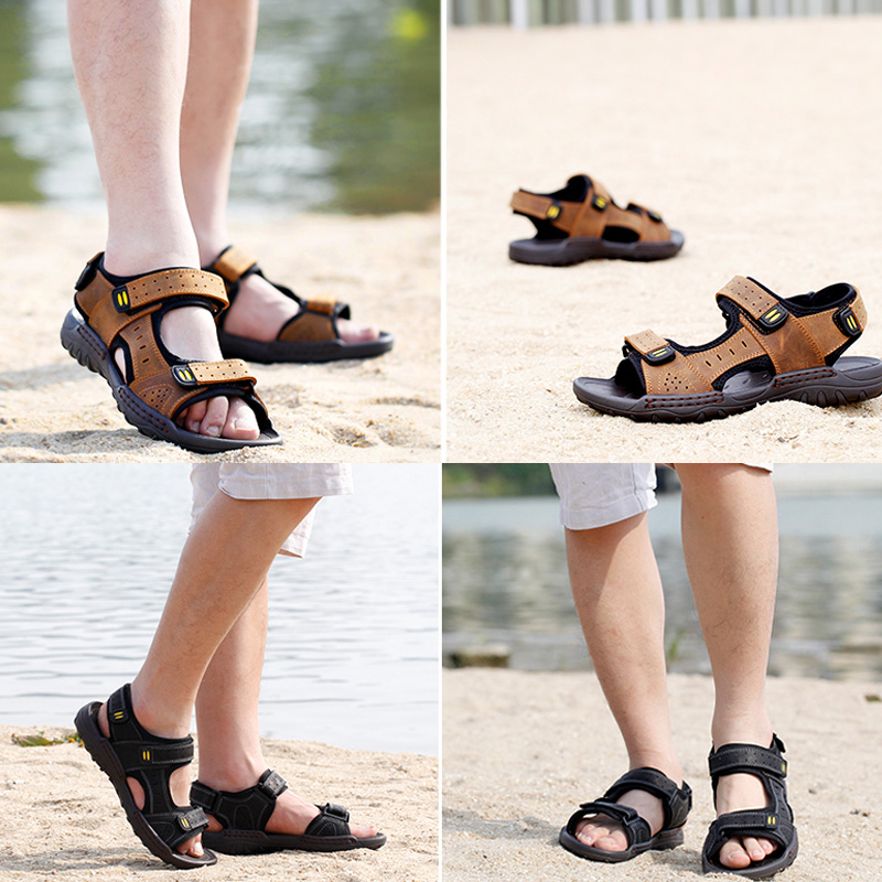 8df5bc6ab99a40 Get Quotations · Animal health breathable toe beach sandals upstream summer  men s shoes men s leather shoes travel office