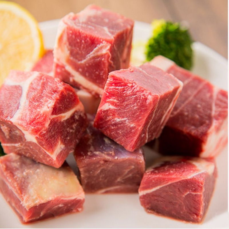 Animal husbandry and yuen cheung inner leg of lamb and mutton pieces 500g islamic sunit boneless sheep barbecue ingredients free shipping sf