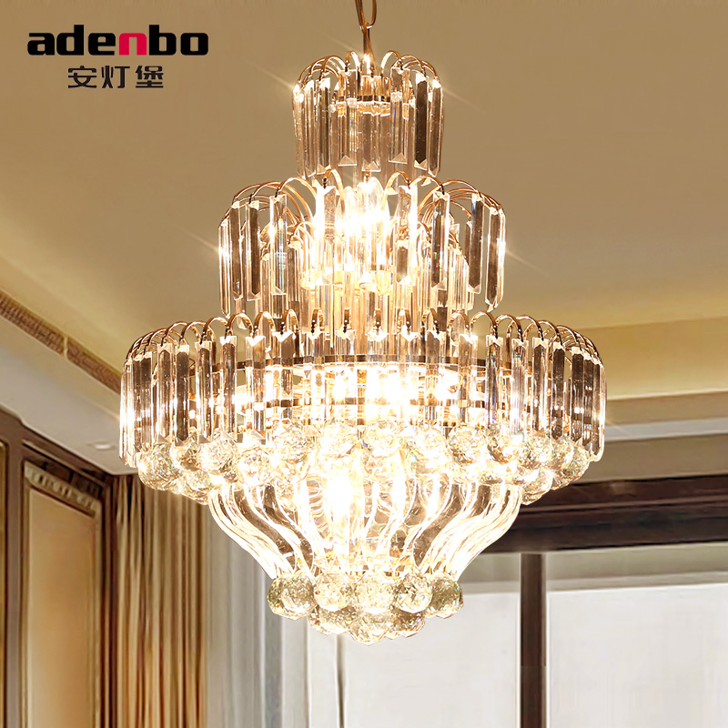 Ann fort lamp modern and stylish s gold crystal chandelier lamp creative personality restaurant dining room lights led lamps bedroom 1302
