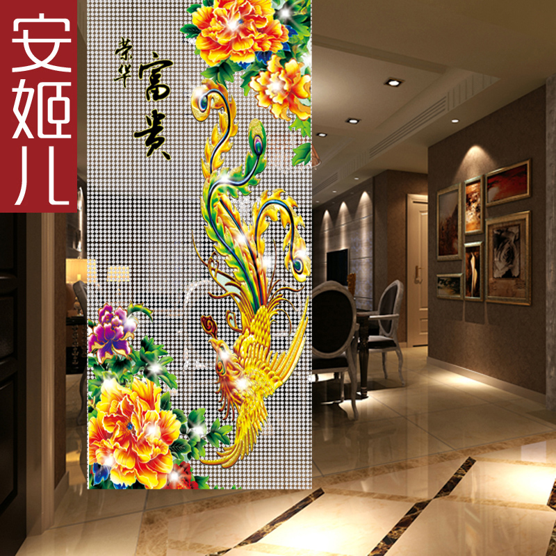 Ann suu kyi composea portieres children creative diy beaded crystal bead curtain bead curtain partition curtain pattern phoenix households