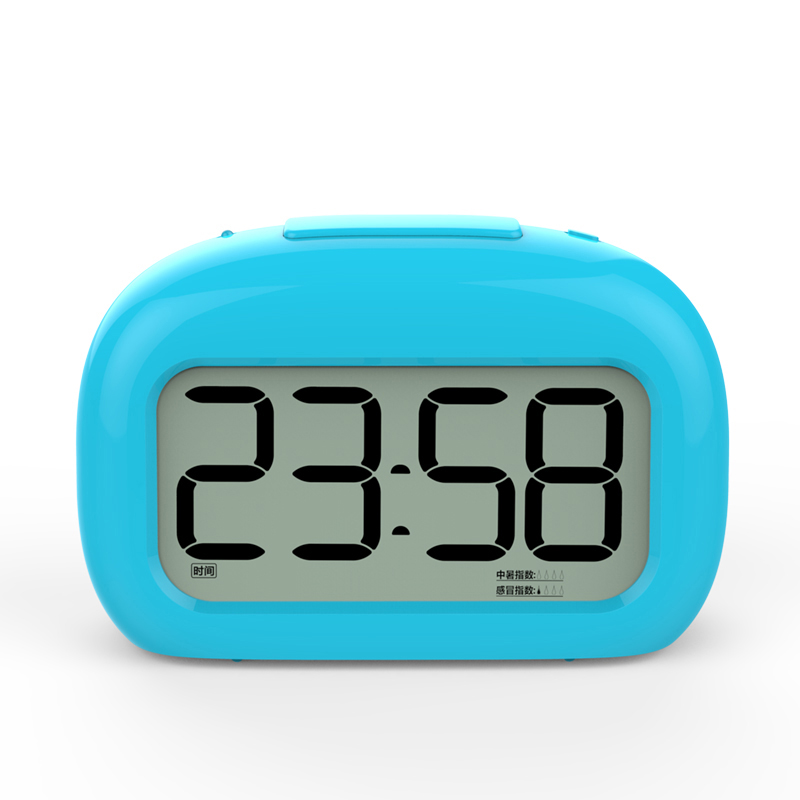 Annie ink creative cute alarm clock snooze mute children lazy student luminous electronic bedside clock at home