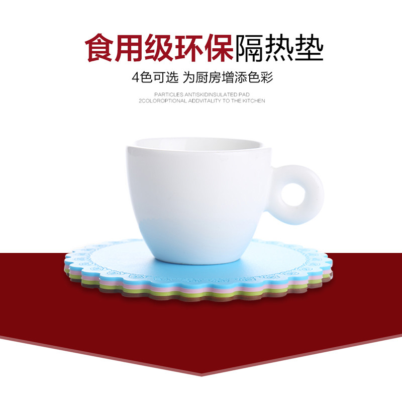 Ant nest roses lovely thick silicone insulation pad creative placemats bowls mat coasters doily coaster coffee